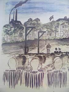 Execution at the Klinkerwerk. ©Etienne van Ploeg, 1945